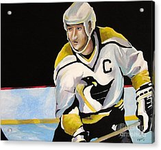 Mario Lemieux The Penguin That Saved Pittsburgh Acrylic Print by Philip Kram