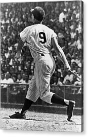 Maris Hits 52nd Home Run Acrylic Print by Underwood Archives
