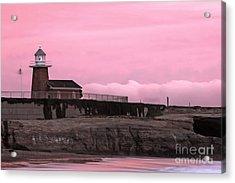 Mark Abbot Memorial Lighthouse In Santa Cruz Ca Acrylic Print by Paul Topp
