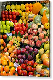 Market Time II Acrylic Print by Sue Melvin