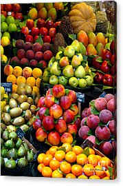 Market Time Acrylic Print by Sue Melvin