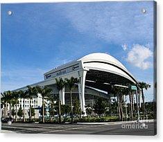 Marlins Park Stadium Miami 16 Acrylic Print by Rene Triay Photography