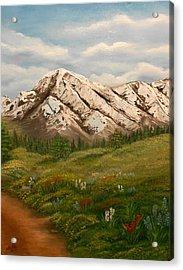 Maroon Trail Splendor Acrylic Print by Sheri Keith