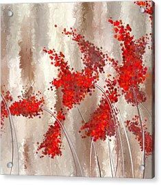 Marsala Abstract Acrylic Print by Lourry Legarde