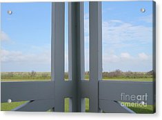 Marsh And Porch Acrylic Print by Cathy Lindsey