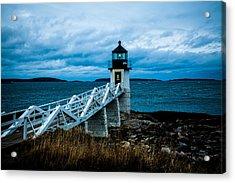 Marshall Point Light At Dusk 2 Acrylic Print by David Smith