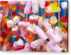 Marshmallow Acrylic Print by Carlos Caetano