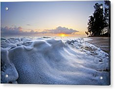 Marshmallow Tide Acrylic Print by Sean Davey