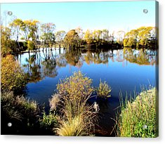 Marslands Water Ways Acrylic Print by Joyce Woodhouse