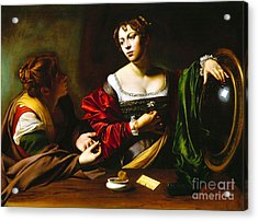 Martha And Mary Magdalene Acrylic Print by Pg Reproductions