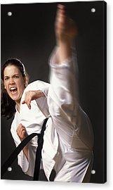 Martial Arts Kick Acrylic Print by Don Hammond