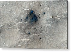 Martian Impact Craters Acrylic Print by Nasa