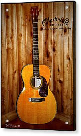 Martin Guitar - The Eric Clapton Limited Edition Acrylic Print by Bill Cannon