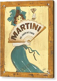 Martini Dry Acrylic Print by Debbie DeWitt