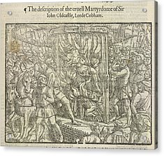 Martyrdom Of Sir John Oldcastle Acrylic Print by British Library