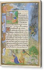 Martyrdom Of St Barbara Acrylic Print by British Library