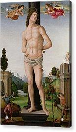 Martyrdom Of St. Sebastian, C.1490-95 Acrylic Print by Tommaso di Piero