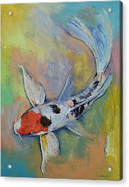 Maruten Butterfly Koi Acrylic Print by Michael Creese