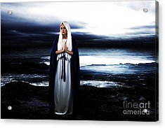 Mary By The Sea Acrylic Print by Cinema Photography