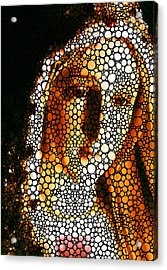 Mary - Holy Mother By Sharon Cummings Acrylic Print by Sharon Cummings