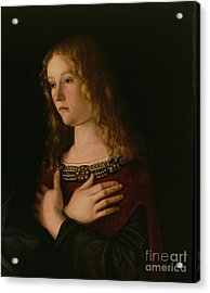 Mary Magdalene Acrylic Print by Giovanni Bellini