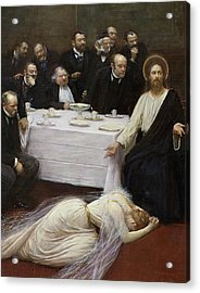 Mary Magdalene In The House Of The Pharisee Acrylic Print by Jean Beraud