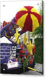 Mary Poppins. Flower Parade. Blumencorso Holland 2011 Acrylic Print by Ausra Huntington nee Paulauskaite