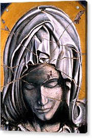 Mary Super Petram - Study No. 1 Acrylic Print by Steve Bogdanoff