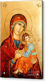 Mary With Jessus R.2 Acrylic Print by Sorin Apostolescu