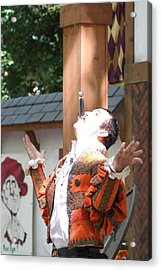 Maryland Renaissance Festival - Johnny Fox Sword Swallower - 121217 Acrylic Print by DC Photographer