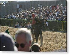 Maryland Renaissance Festival - Jousting And Sword Fighting - 1212115 Acrylic Print by DC Photographer