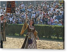 Maryland Renaissance Festival - Jousting And Sword Fighting - 1212117 Acrylic Print by DC Photographer