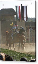 Maryland Renaissance Festival - Jousting And Sword Fighting - 1212178 Acrylic Print by DC Photographer