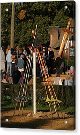 Maryland Renaissance Festival - Jousting And Sword Fighting - 12123 Acrylic Print by DC Photographer