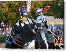 Maryland Renaissance Festival - Jousting And Sword Fighting - 121245 Acrylic Print by DC Photographer