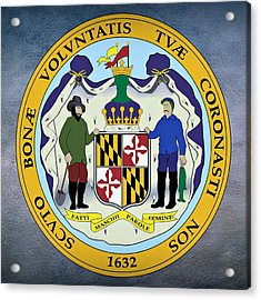 Maryland State Seal Acrylic Print by Movie Poster Prints
