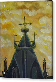 Mary's Cathedral In The Sky Acrylic Print by Tricia Concienne