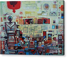 Maseed Maseed 2 Acrylic Print by Mohamed Fadul
