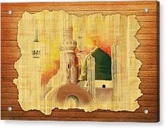 Masjid E Nabwi 02 Acrylic Print by Catf