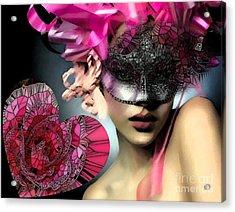 Masked Acrylic Print by Catherine Lott