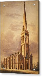 Masonry Church Circa 1850 Acrylic Print by Aged Pixel