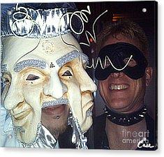 Masquerade Masked Frivolity Acrylic Print by Feile Case