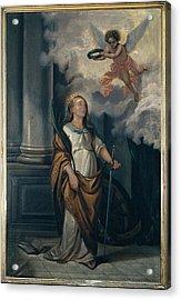 Massimo Diodato, St Catherine Acrylic Print by Everett