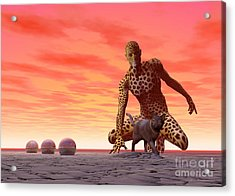 Master And Servant - Surrealism Acrylic Print by Sipo Liimatainen