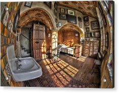 Master Bedroom At Fonthill Castle Acrylic Print by Susan Candelario