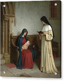 Maternity Acrylic Print by Edmund Blair Leighton