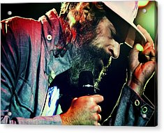Matisyahu Live In Concert 7 Acrylic Print by The  Vault - Jennifer Rondinelli Reilly
