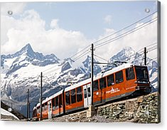 Matterhorn Railway Zermatt Switzerland Acrylic Print by Matteo Colombo