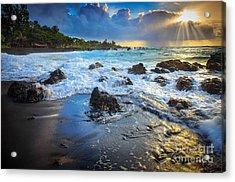 Maui Dawn Acrylic Print by Inge Johnsson