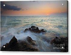 Maui Tidal Swirl Acrylic Print by Mike  Dawson